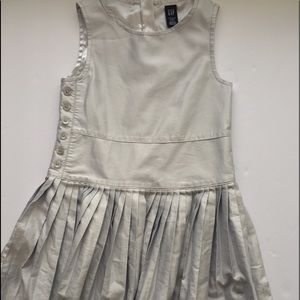 Gap Kids silver pleated formal dress 3T.